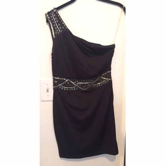 Dresses & Skirts - ❌SOLD❌Beaded One-Shoulder Bodycon Dress