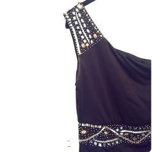 Dresses - ❌SOLD❌Beaded One-Shoulder Bodycon Dress