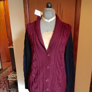 Long knit boyfriend cardigan NWT
