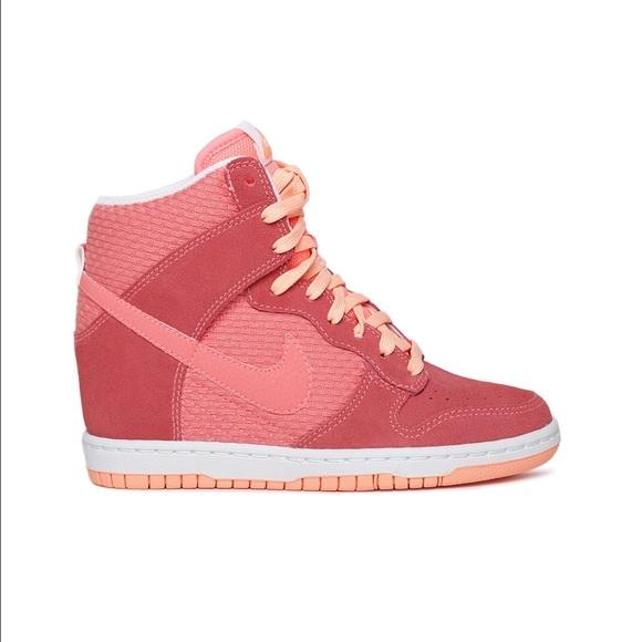 67dab70c775e Nike Dunk Sky Hi Wedge Sneaker in Peach Orange. M 56f1d38df092822e6b01ecf4