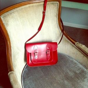 Handbags - Clara's Small Red Leather Satchel