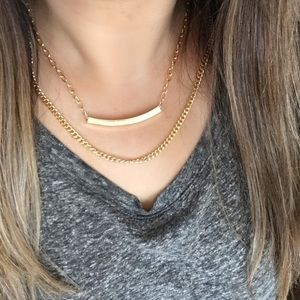 Jessica Elliot Jewelry - NEW! 18K GP Double Chain Gold Necklace MSRP $50