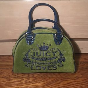 Juicy couture velvet purse