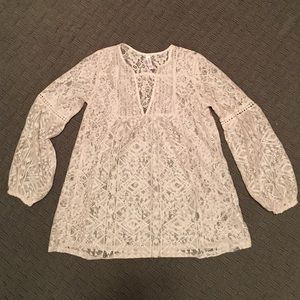 Lace tunic top, size xs