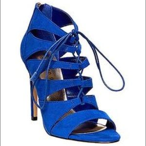 Madden Girl 'Raceyyy' Lace Up Heels Blue