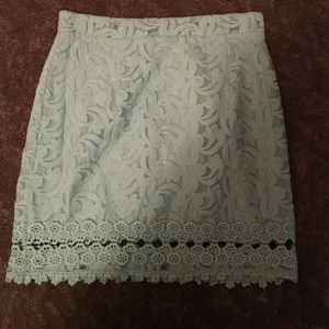 Mint green skirt with detail