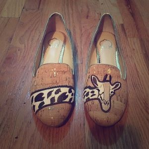 Natural Cork Giraffe Loafers