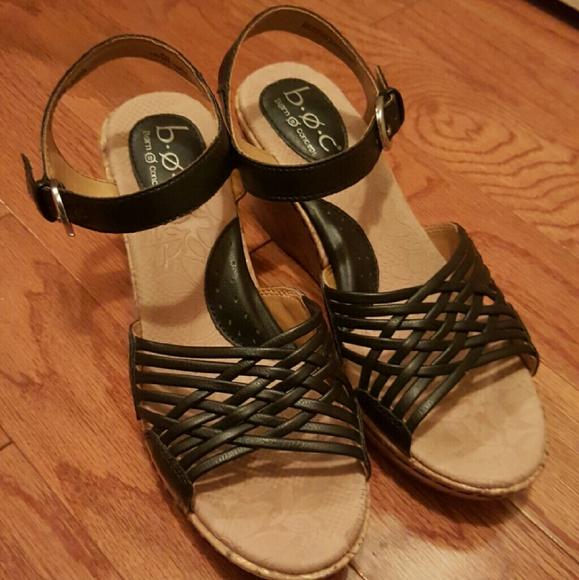d10679c038ec Born Shoes - B.O.C. black wedge sandals