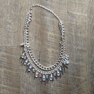 Jewelry - Handmade silver chain statement necklace