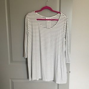 Kenar Tops - Soft & Comfy Striped Blouse