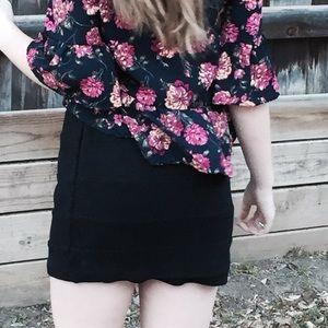 INC black striped skirt