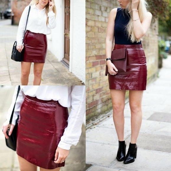 73% off Zara Dresses & Skirts - Zara patent leather mini skirt ...