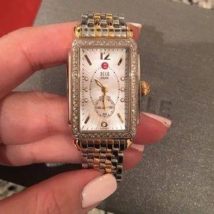 Michele Accessories - 💯%Authentic Michele Deco Park Watch with Diamonds