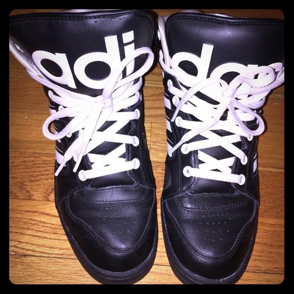 089dfcdb7064 Adidas Shoes - Jeremy Scott x Adidas Instinct Hi Black white