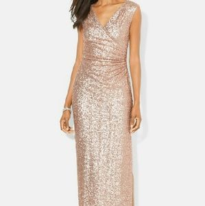 NEW Ralph Lauren Sequin Prom Maxi Gown