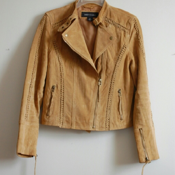 Jackets & Coats - ☆SOLD☆ Ookie & Lala 100% Leather Tan Suede Jacket
