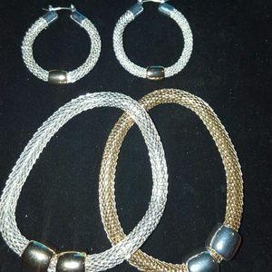 Avon Mesh Bracelet and Earring Set
