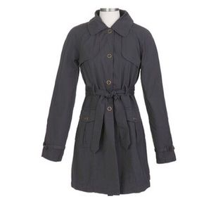 Belted Long Sleeve Trench Coat