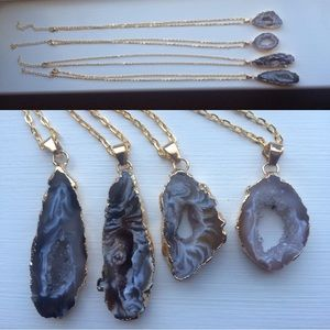 Natural Crystalized Druzy Stone Necklace