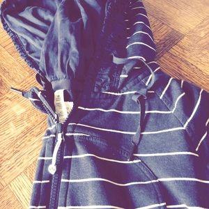Lulu lemon navy stripe scuba hoodie
