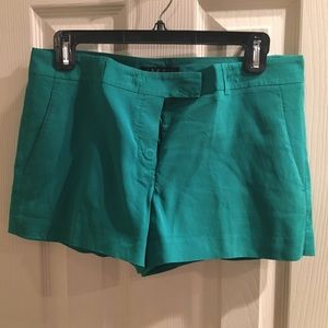 Theory Green Shorts in size 6.
