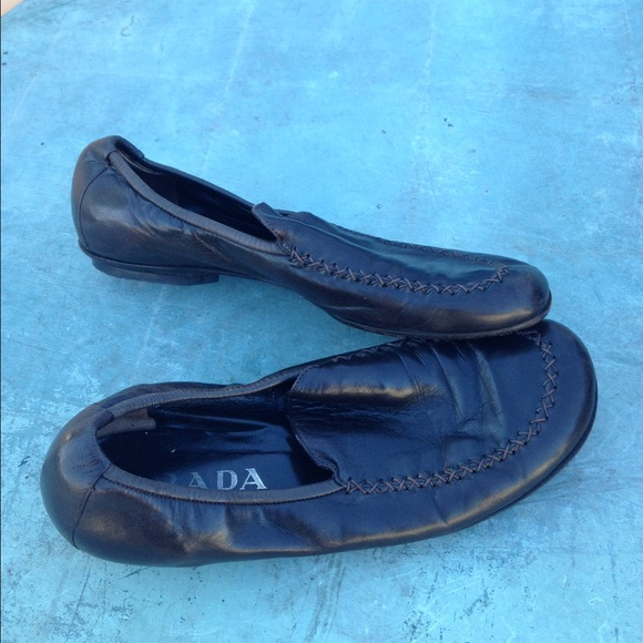 8bb23f3aa0d ... authentic prada loafer women shoes size 36.5 299fe f0b79 ...