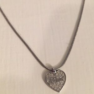 Dior heart with stone necklace