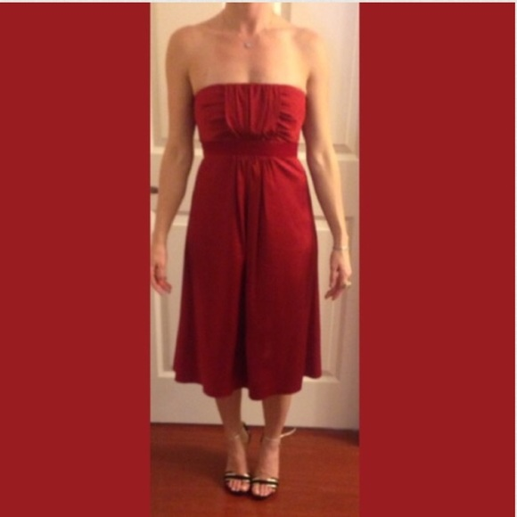 72 off banana republic dresses skirts nwt deep red for Banana republic wedding dresses