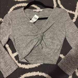 NWT long sleeve crop top
