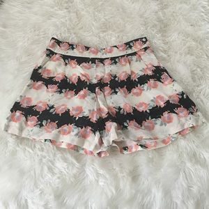 ASOS Pants - Floral silk shorts