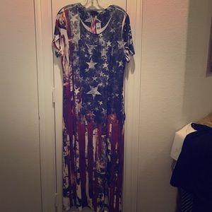 Cal Style USA Dresses \u0026 Skirts , Flag Dress with embellished Stars