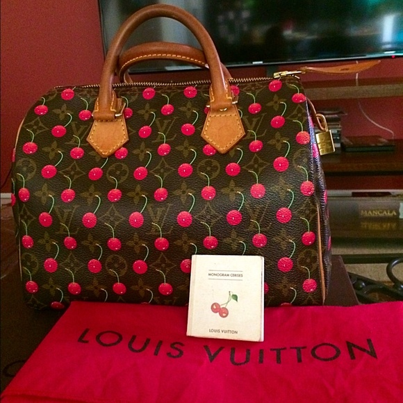 f94cad42e143f1 Louis Vuitton Handbags - Louis Vuitton Murakami cerises cherry speedy 25