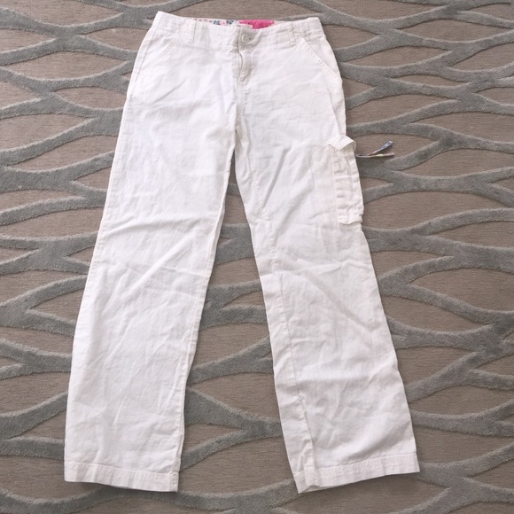 73% off Pants - Girls white linen pants size 12 youth from Amy's ...