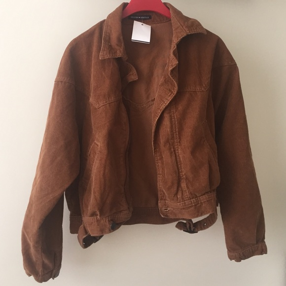 Brandy Melville - Brandy Melville brown corduroy jacket from Kim's ...