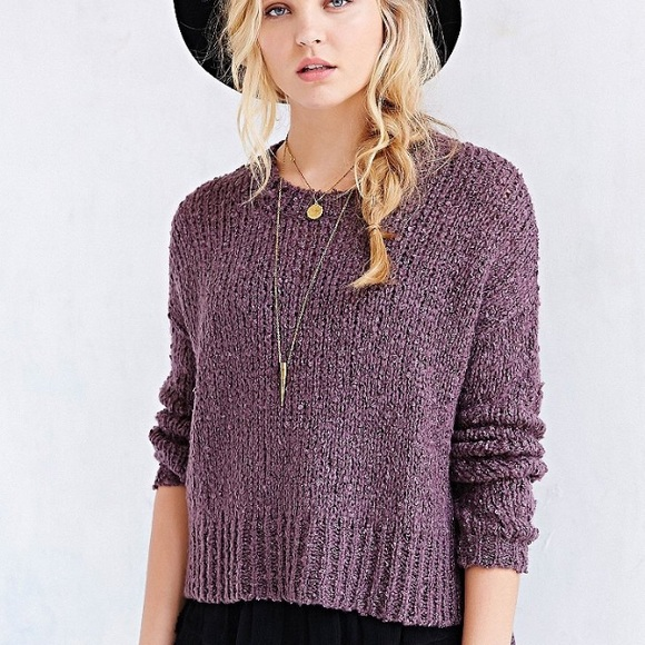 Urban Outfitters Boucle Cropped Sweater!