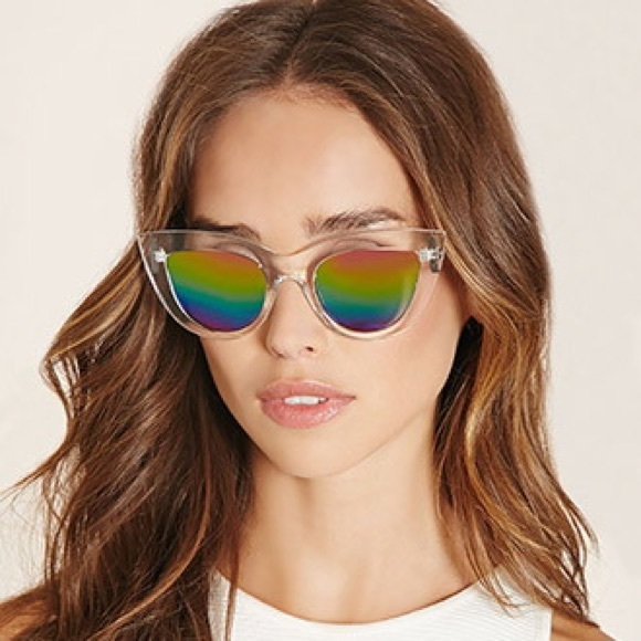 970004a6486 Forever 21 Accessories - Mirrored Cat Eye Sunglasses