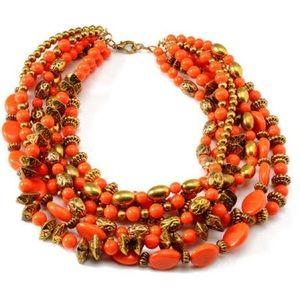 Amrita Singh Jewelry - Amrita Singh Chalchi Necklace, Coral Haze