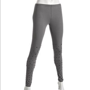 Morphine Generation Pants - Morphine Generation grey mist studded leggings
