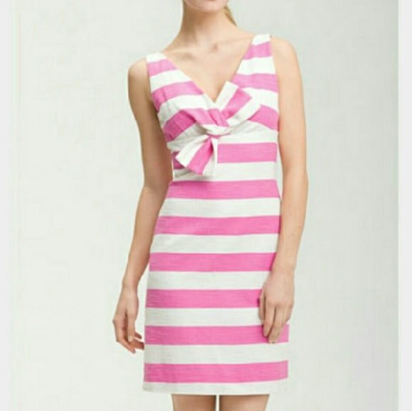 33a6fa5649 kate spade Dresses   Skirts - Kate spade pink and white striped bow dress