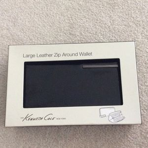 Large leather zip around Kenneth Cole wallet