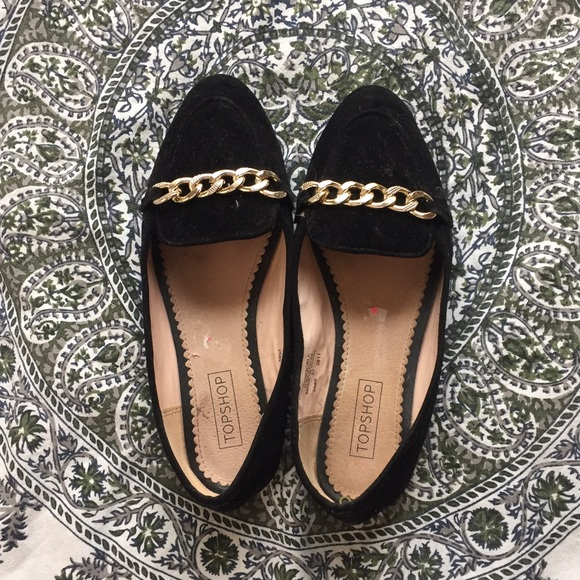 Black And Gold Chain Loafers | Poshmark