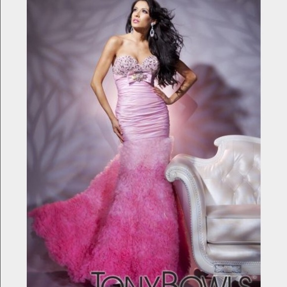 Tony Bowls Dresses | Le Gala Pink Ombr Prom Dress | Poshmark
