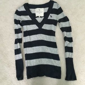 Abercrombie & Fitch Navy Stripe Sweater