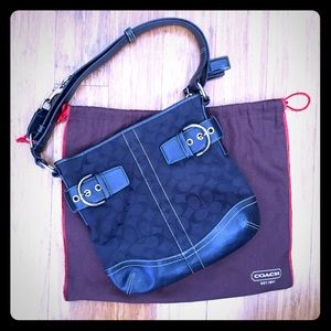 SALE! Authentic Black Coach Signature Print Bag