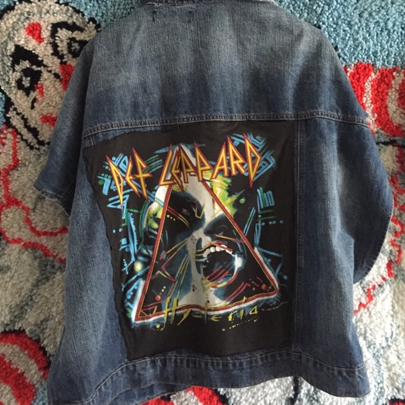 fb0aa40cc5 Vintage def Leppard denim jacket