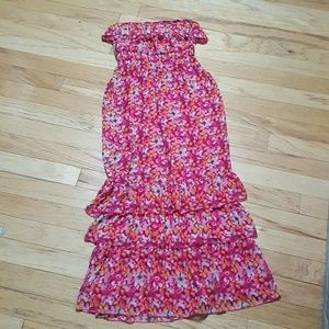 Max & Cleo Dresses & Skirts - Max & Cleo Floral Maxi Dress Strapless