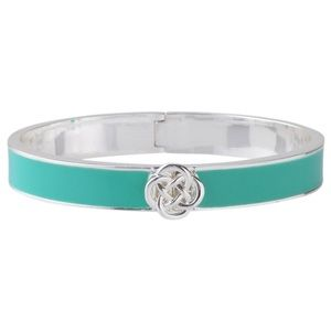 Stella & Dot Lindsay Bangle in Turq/Silver