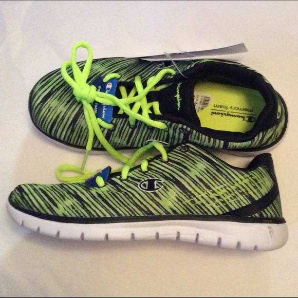 96eeb3d77f33 Champion Woman s Sneakers Black Lime Size 7.5 NIB