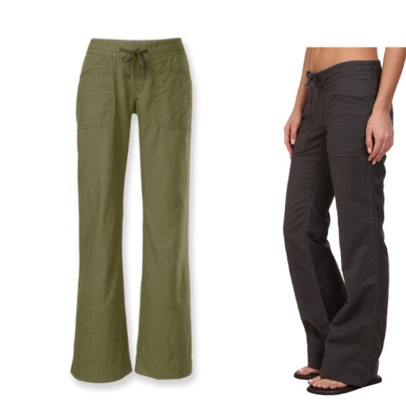 46% off The North Face Pants - The North Face Olive Green Linen ...