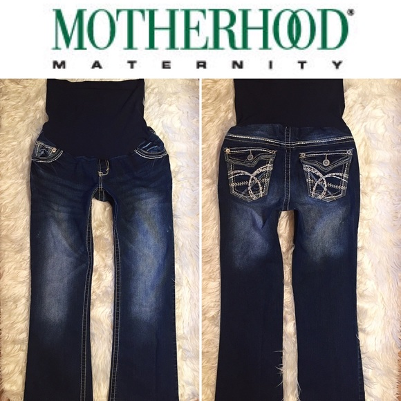 60% off Motherhood Maternity Denim - 🌺WALLFLOWER Maternity Jeans ...